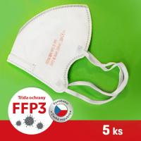Respirátor / Filtrační polomaska ROYAX FFP3 - 5ks