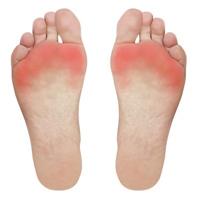 Pomoc při bolesti přední části nohy.
